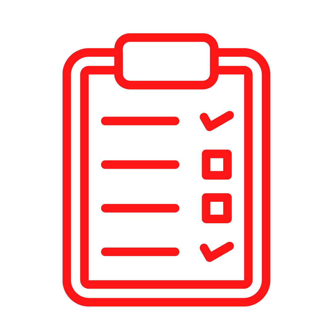 Red checklist for damage claim assistance