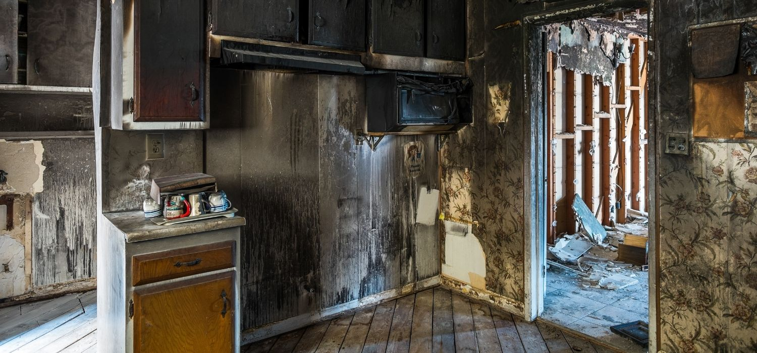 Fire damage to kitchen in Kissimmee home
